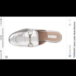 New! Topshop Silver Kylie Loafer